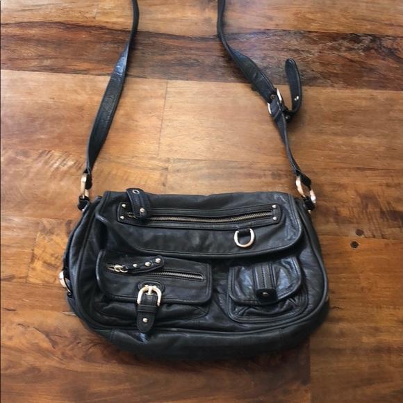 c86e9928034e Junior Drake Handbags - Junior Drake Black Leather Crossbody Bag